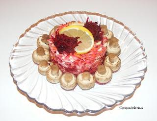 Salata de cruditati cu ciuperci retete culinare,