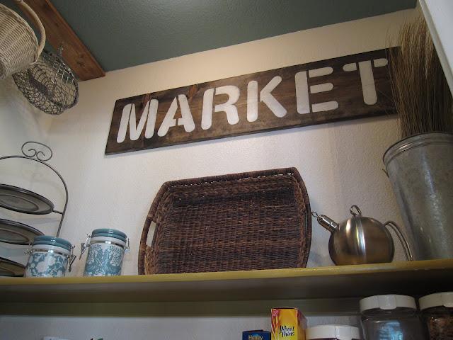 handmade rustic sign kitchen pantry market
