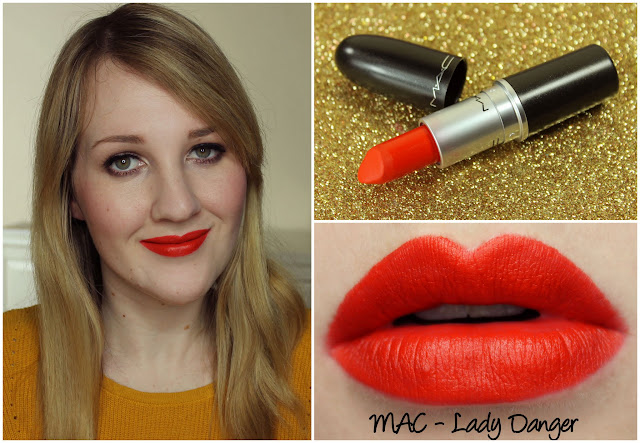 MAC Lady Danger lipstick swatch