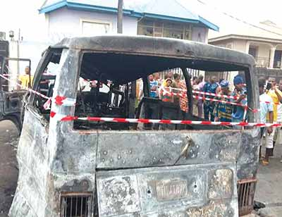bus exploded isolo lagos