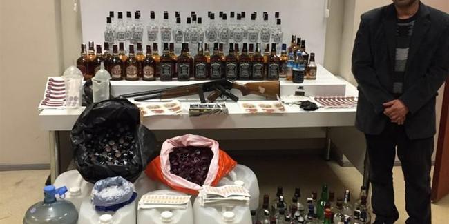 Sahte içki tacirinin Yenidoğan'daki imalathanesi baskın!