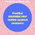 PREDIKSI SOAL UN/UNBK MATEMATIKA SMP TH 2019