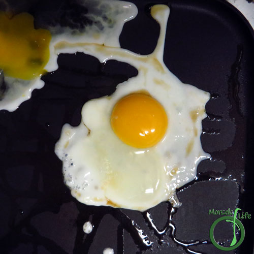 Morsels of Life - Savory Oatmeal Step 2 - Cook egg. We like over hard, but feel free to make it any way you like. :)