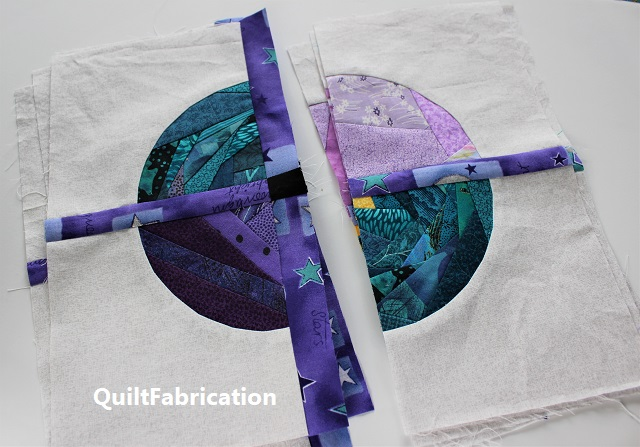 Saxon circle block by QuiltFabrication