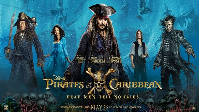Pirates of the Caribbean Dead Men Tell No Tales 2017 Hindi Dual Audio 480p 720p 1080p HD BRRip 10bit Hevc ESub