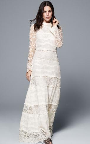 vestido novia largo H&M Conscious Exclusive 2016