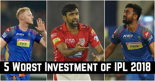 5 Worst Investment of IPL 2018 (Cost-to-Performance Ratio)