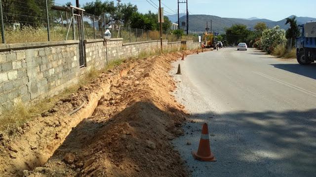 Αντικατάσταση παλαιού αγωγού ύδρευσης από τη ΔΕΥΑ Ναυπλίου στο Τολό