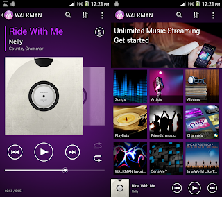 tampilan walkman Android
