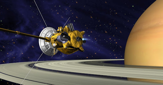 <h1>Cassini's final goodbye to Saturn</h1>
