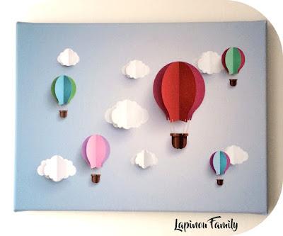 montgolfieres papier