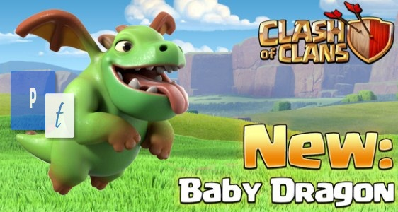Baby Dragon Update Pasukan Terbaru Town Hall 9 Clash of Clans