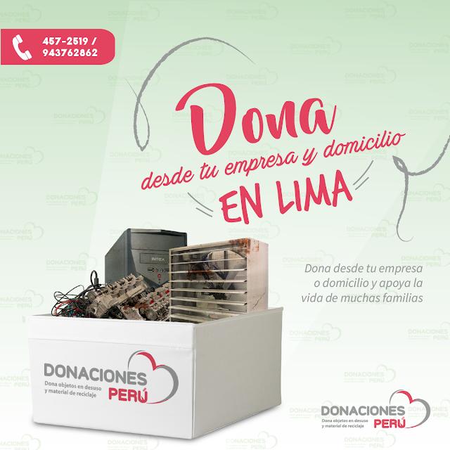 Dona desde tu empresa o domicilio en Lima