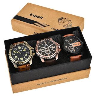Espoir Combo of 3 Cool Blk Kranti Analogue Multicolor Dial Mens Watches