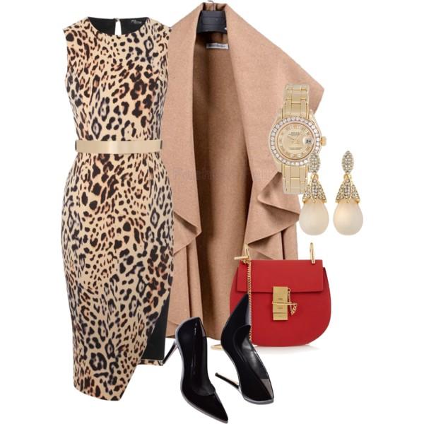 леопардовый принт осень-зима 2015-2016