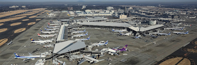 Tokyo Narita International Airport Bird Eye View