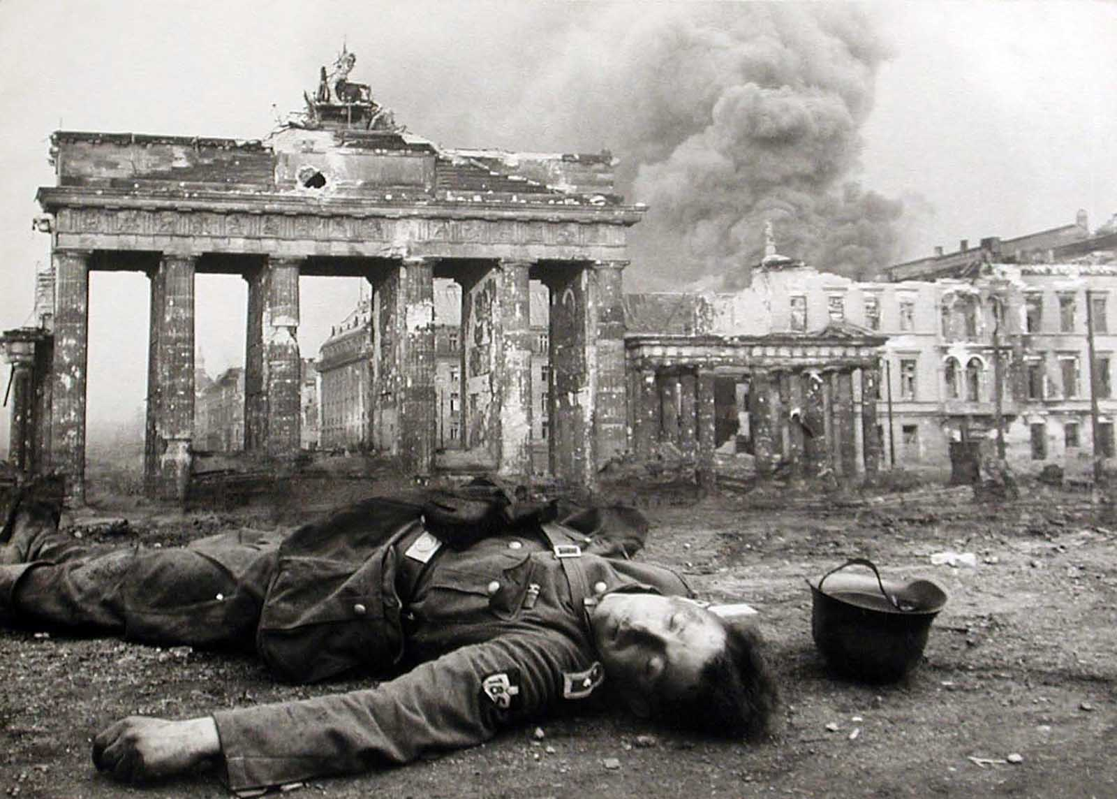 An iconic picture. The Fall of Nazi Germany.