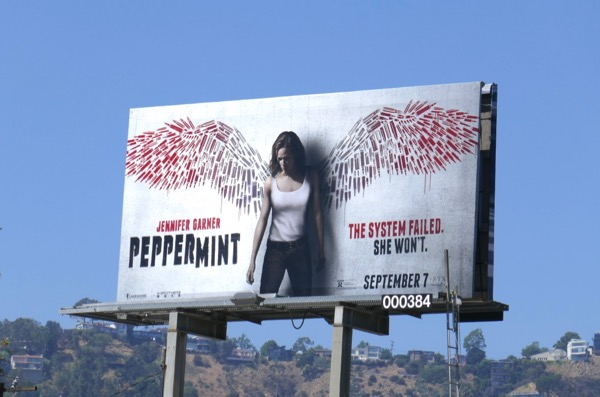 Peppermint film billboard