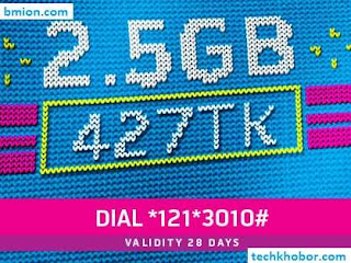 Grameenphone-GP-2.5GB-28Days-427Tk-Dial-*121*3010#