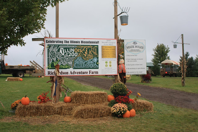 This year's corn maze at Richardson Adventure Farm celebrates the Illinois Bicentennial!