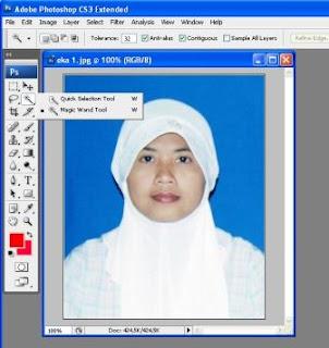 Cara Mengganti Bacground Pas Photo Dengan Photoshop