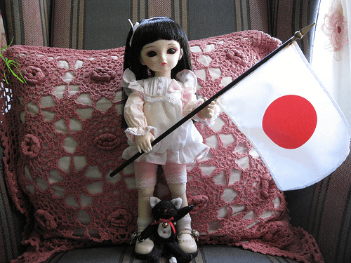 Japanese Flag And Doll