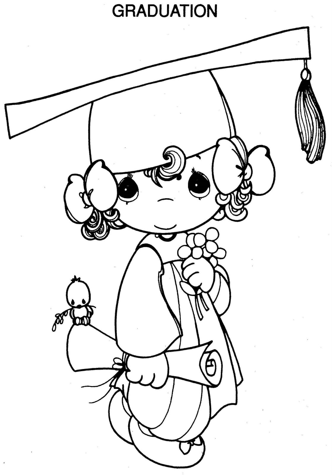 Graduation Designs ~ Child Coloring