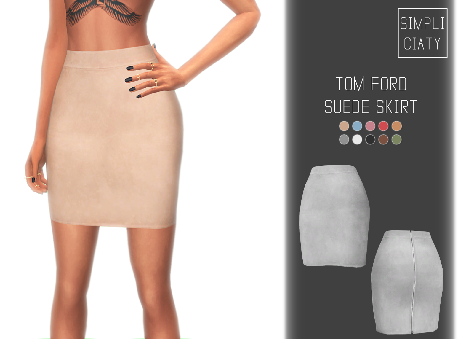 Tom Ford Suede Skirt Simpliciaty