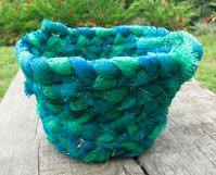 plastic bag woven basket