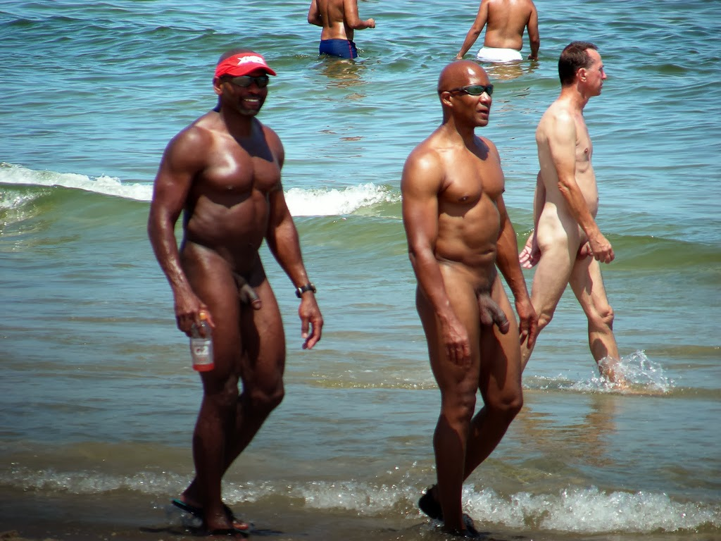 Black nude endowed men