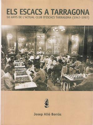 Portada del libro de Josep Alió Borràs, Els Escacs a Tarragona