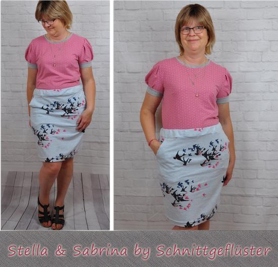 Rock Sabrina & Shirt Stella by Schnittgeflüster