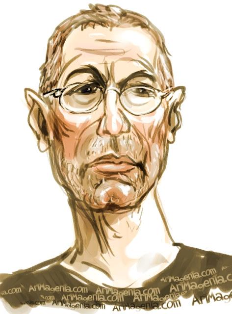 Eric Clapton caricature cartoon. Portrait drawing by caricaturist Artmagenta