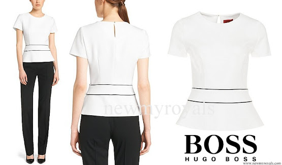 Crown Princess Mary wore Hugo Boss blouse