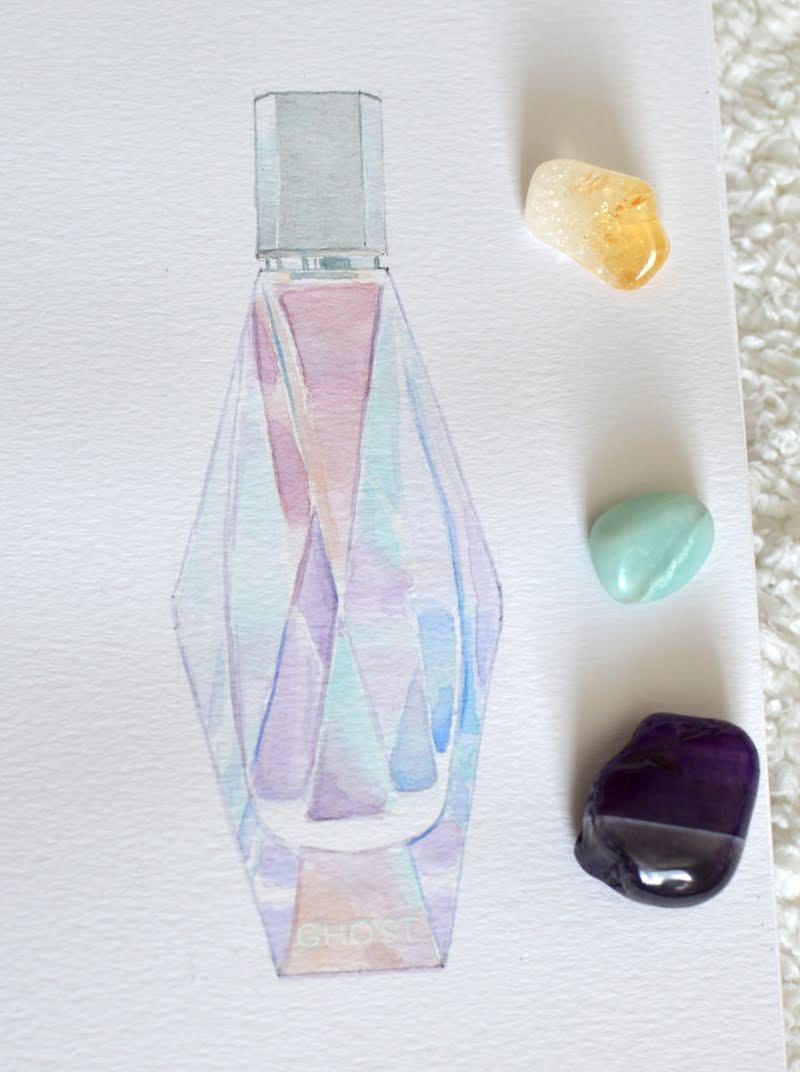 Ghost Daydream Perfume Watercolour Illustration