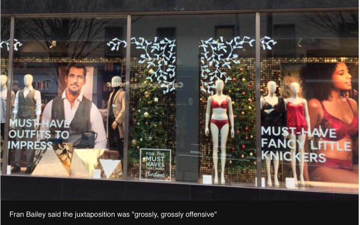 Hide Out Now: Feminists Said This Christmas Window Display