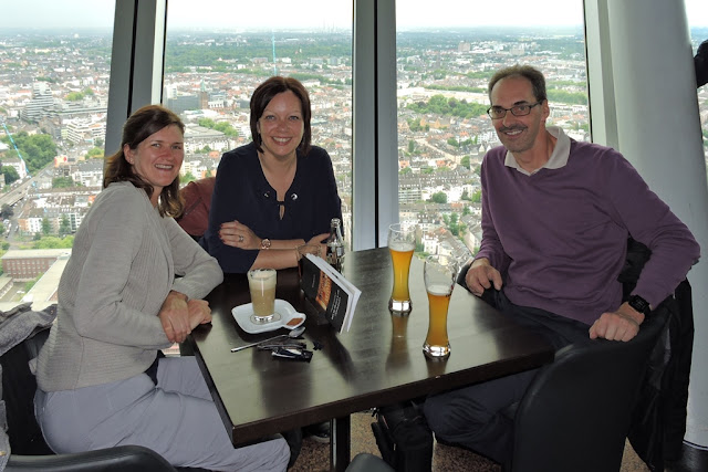Rheinturm Dusseldorf drink beer
