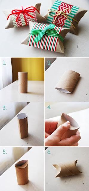 Caixa de lembrancinha com rolo de papel higiênico