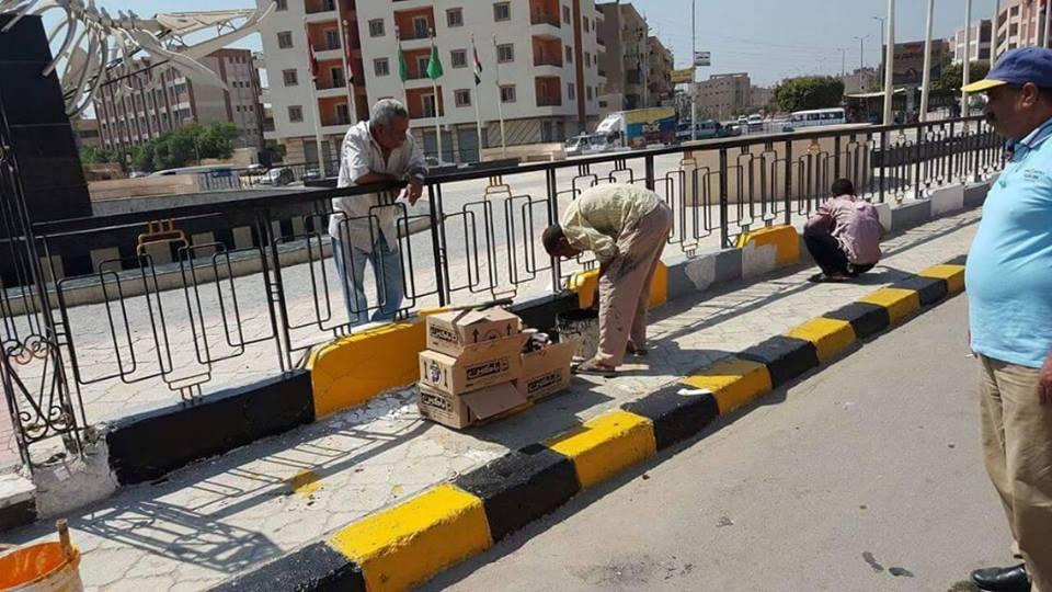 حملة للنظافة العامة ورفع الإشغالات بمدينة الفيوم