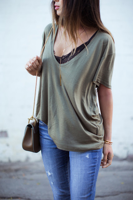 http://www.songofstyle.com/wp-content/uploads/2014/11/song-of-style-deep-scoop-neck-tee-lace-bra-3.jpg