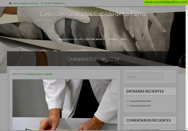 Una web muestra la amplia colección de grabados contemporáneos pertenecientes a los fondos del Cabildo de La Palma