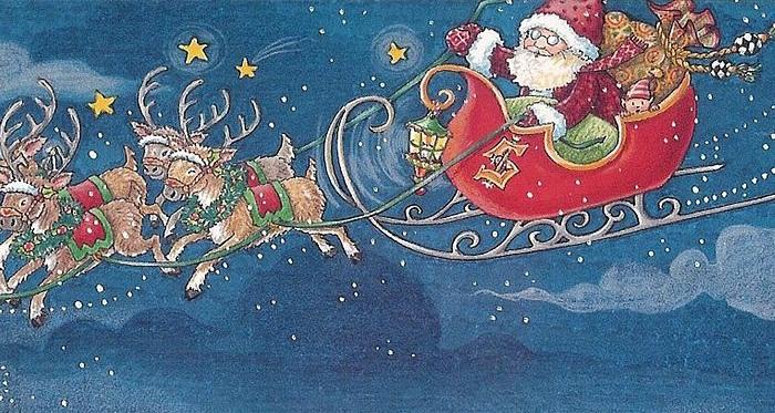 Immagini Di Babbo Natale Con La Slitta E Le Renne.Le Renne Di Babbo Natale Racconti Fiabe Filastrocche E