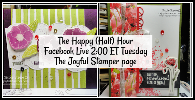 The Happy (Half) Hour Live show | Tuesdays at 2PM ET on The Joyful Stamper Facebook Page