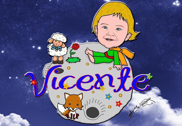 O pequeno príncipe Vicente, arte de Marcelo Lopes de Lopes