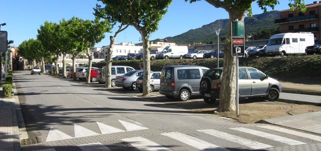 La Jonquera, lloc utilitzat per estacionar i pernoctar