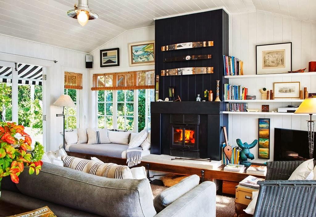 Domek przy plaży w Nowej Zelandii, wystrój wnętrz, wnętrza, urządzanie domu, dekoracje wnętrz, aranżacja wnętrz, inspiracje wnętrz,interior design , dom i wnętrze, aranżacja mieszkania, modne wnętrza, domek wakacyjny, salon