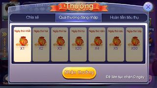 Xu thưởng đăng nhập Bingo Club