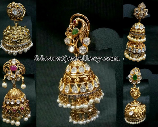 60 Grams Pachi Jhumkas Collection