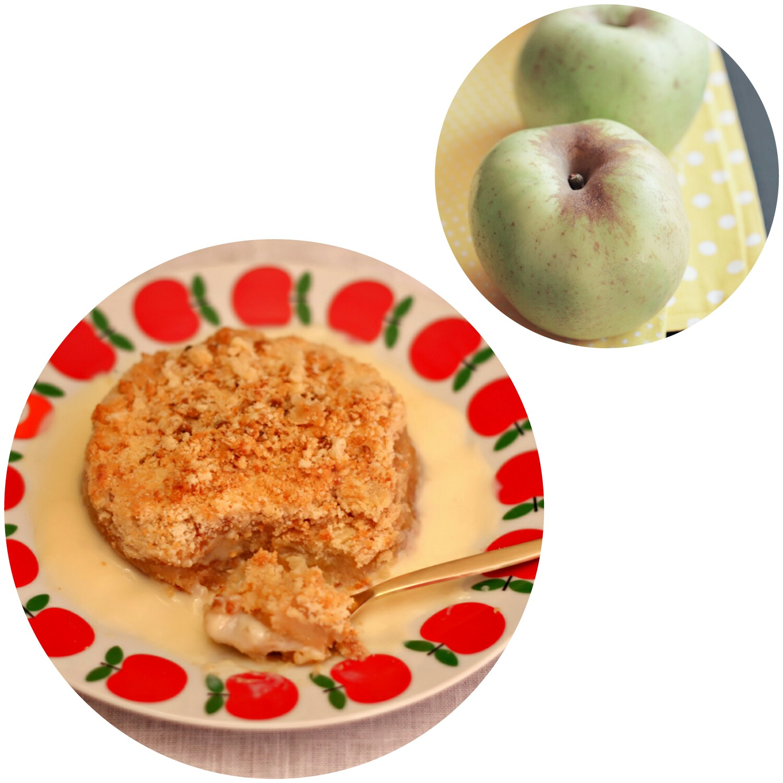 Igloo Cooking Crumble De Manzana Con Crema Inglesa