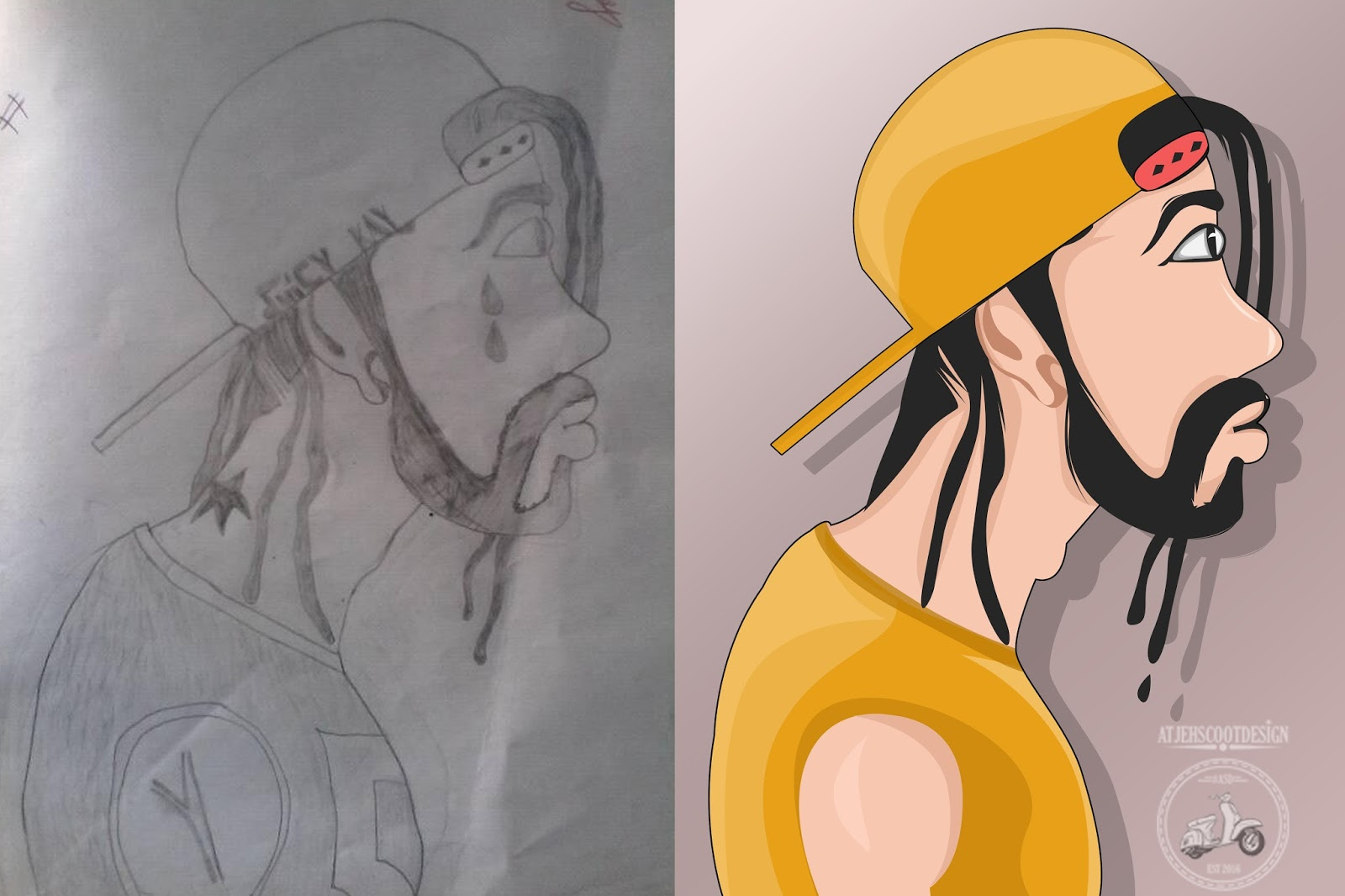 Cara Mewarnai Sketsa Dengan Photoshop Atjehscootdesign